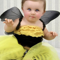 Bumble Bee Tutu Halloween CostumeChildren Girl Costume by jkroppe