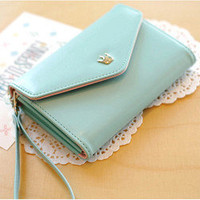 Mint Porch PU Leather Wallet Bag Change Purse Flip Case For Iphone 5 5th 4 4S