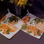 2 Pretty Pineapple Pot Holders with Great Green Leaves by New Vintage Designs Quilted with Loops & Decorative Edging Hot Pads