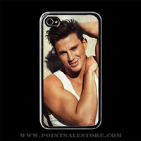 Channing Tatum 2 iPhone 4 4s Case (Black Case) - Optional : White Side