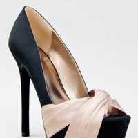 Amazon.com: Qupid MIRIAM-70 Satin Knotted Platform High Heel Party Pump ZOOSHOO: Shoes