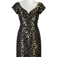 Golden daffodils sheath dress
