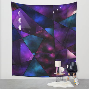 Cosmic Glass Wall Tapestry by DuckyB (Brandi)