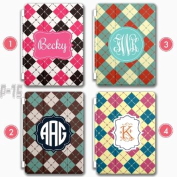 Monogram iPad Mini Smart Cover Personalized iPad Air case Apple