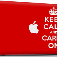 "GEL Apple MacBook Pro 13"" 15"" 17"" Skin Cover w/ Apple Cutout - Keep Calm and Carry On"