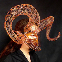 Ram mask, halloween, mens, handmade