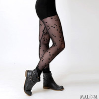 Black and starry mesh leggings LEG