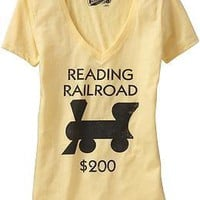 "Women's Monopoly© ""Reading Railroad™"" Tees 
