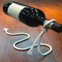 Floating Wine Bottle Illusion