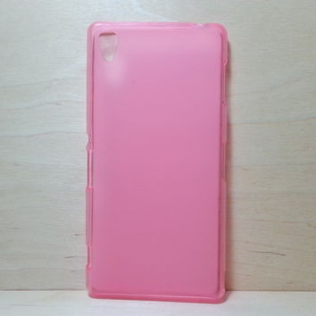 For Sony Xperia Z3 Soft TPU translucent Color Case Protective Silicone Back Case Cover - Pink