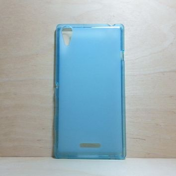 For Sony Xperia T3 Soft TPU translucent Color Case Protective Silicone Back Case Cover - Blue