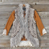 Whiterock Faux Fur Vest, Sweet Navajo Inspired Sweaters