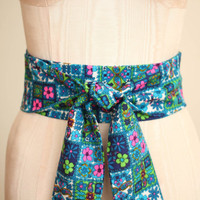 Obi Belt in a Blue Turquoise Hot Pink Lime Green and by ccdoodle