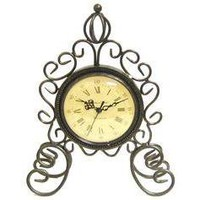 Metal Swirl Table Clock with Crown - Hobby Lobby