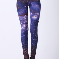 ROMWE | Starry Night Print Leggings, The Latest Street Fashion