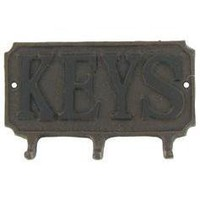 "Three Hook ""Keys"" Plaque - Hobby Lobby"