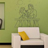 Beauty and the Beast Wall Mural Vinyl Decal by vsgraphicsdotnet