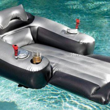 motorized inflatable pool lounger from opulent items