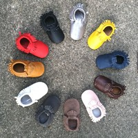 100% Genuine Leather Moccasins - Spring Colors