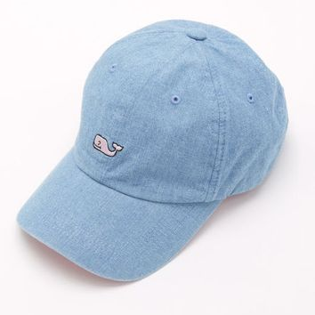 chambray whale logo baseball hat from vineyard vines epic