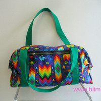 Rainbow Aztec Duffle Bag