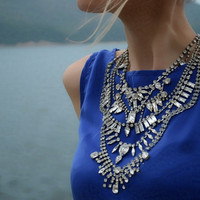 Aphrodite -Swarovski rhinestones statement necklace  - made to order.