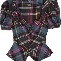 Vivienne Westwood Anglomania|Poppy tartan twill blouse|NET-A-PORTER.COM