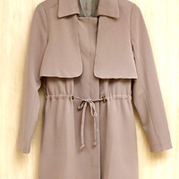 Incognito Trench Coat , Taupe