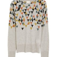 Knitwear with Colorful multiple Triangle Print