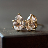 Pink Morganite Stud Earrings