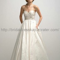 Cheap Sexy Low Back Ivory Ball Gown Wedding Dress