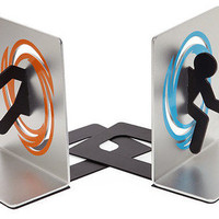 Portal Bookends Aperture Laboratories by Shadow Anime