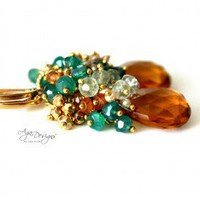 Handmade Jewelry | Topaz Quartz Earrings | agajewelrydesigns.com