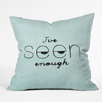 DENY Designs Home Accessories | Nick Nelson Ive Seen Enough 1 Throw Pillow