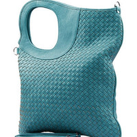 Turquoise Handbag Urban Style City Tote Purse Shopper Handbag 45cm x 35cm PU-leather