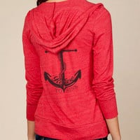 Refuse to Sink Anchor Hoodie Lightweight Sweatshirt