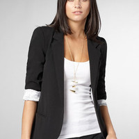 Boyfriend Blazer | Womens Black Blazer | fredflare.com