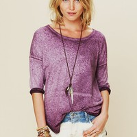 Free People Aurora Washed Short Sleeved Tee