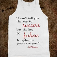 Ed Sheeran Quote tank