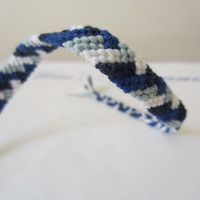 Braided Friendship Bracelet - Sea of Blue