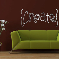 Wall Decal Create - Wall VInyl - Wall Sticker - Vinyl Decal