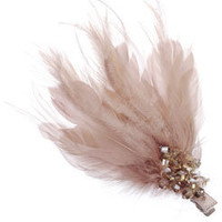 Faceted Bead and Feather Clip at Accessorize