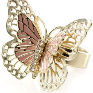 Flutter Butterfly Ring at Accessorize