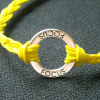 Focus Wish Bracelet or Anklet