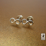 Sterling silver INFINITY earrings  :  studs, handmade, cute, small