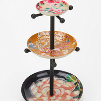 Mixed Enamel Plates Jewelry Stand