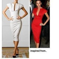 Victoria Beckham Inspired Pencil Dress
