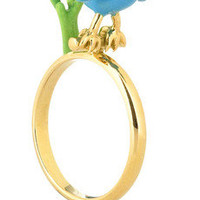 Solange Azagury-Partridge | Blue Bird 18-karat gold enamel ring | NET-A-PORTER.COM