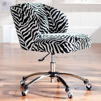 Zebra Wingback Desk Chair