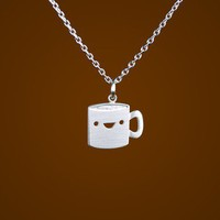 Happy Coffee Mug Necklace